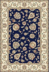 """Dynamic Rugs Ancient Garden Collection Area Rug 5'3"""" Round Cream"""