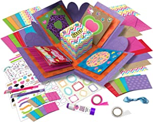Card Crafting Explosion Arts and Crafts Box- Complete Card Making Kit for Girls - Birthday Gift Box to Tween - DIY Greeting Cards Stationary Set – Make Your Own Card Crafts for Boys and Girls Age 6+