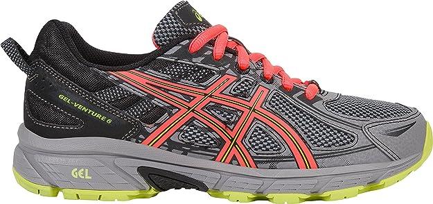 ASICS Women's Gel-Venture 6 Running-Shoes,Phantom/Coral/Lime,5.5 Medium US