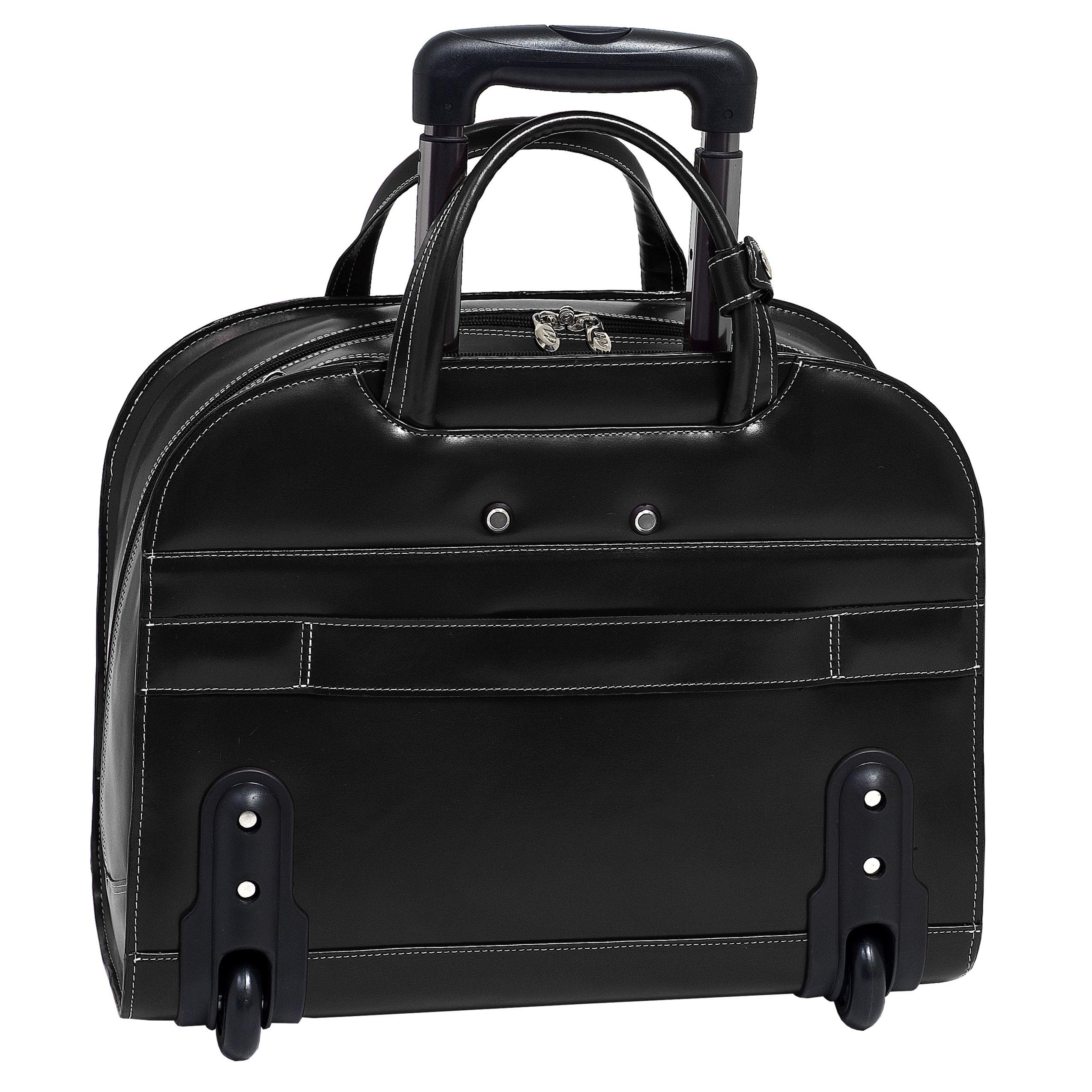 McKleinUSA DAVIS 96185A Black Wheeled Ladies' Laptop Case by McKleinUSA