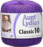 Coats Crochet Aunt Lydia's Crochet, Cotton Classic Size 10, Purple