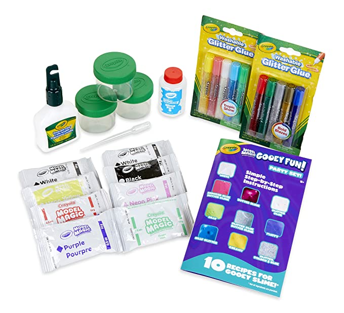 Crayola Model Magic Gooey Fun! Party Kit, Slime Supplies, Gift for Kids, Age 5, 6, 7, 8