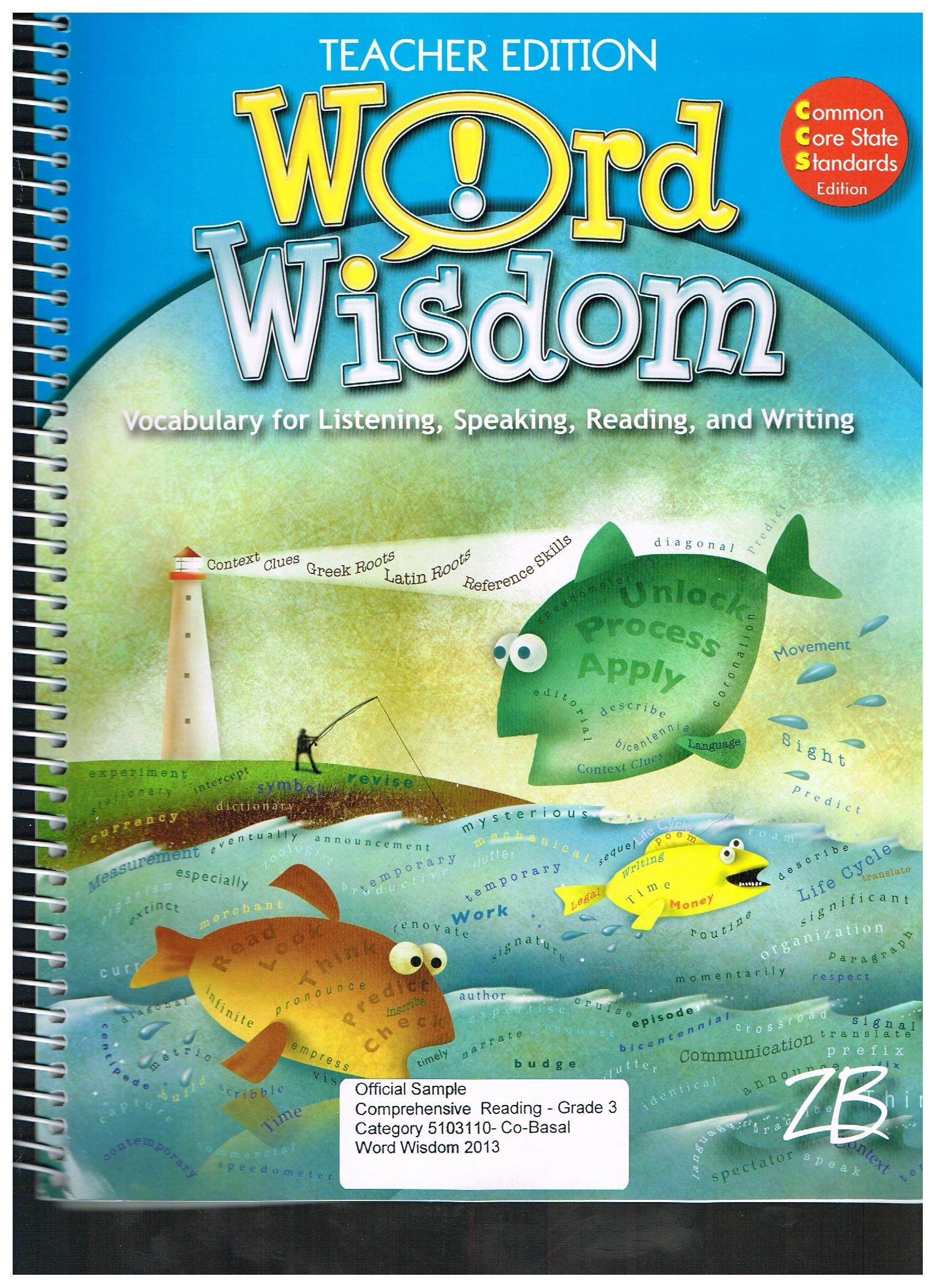 Read Online Word Wisdom Grade 3 Teachers Edition W/cd CCS pdf epub