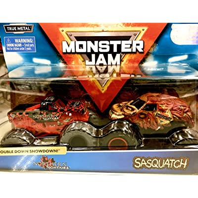Monster Jam, Official Northern Nightmare Vs. Sasquatch Die-Cast Monster Trucks, 1: 64 Scale, 2 Pack: Toys & Games