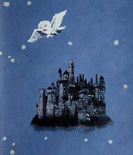 QuotHogwarts Castle Post Owlsquot Denim Blue Harry Potter Wallpaper