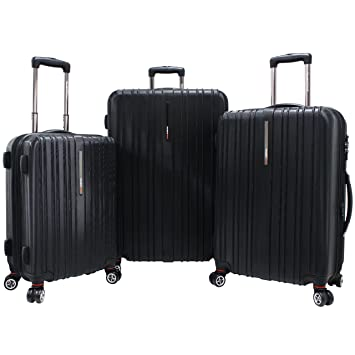 148540a82ba37 Amazon.com | Travelers Choice Tasmania Three-Piece Luggage Set ...