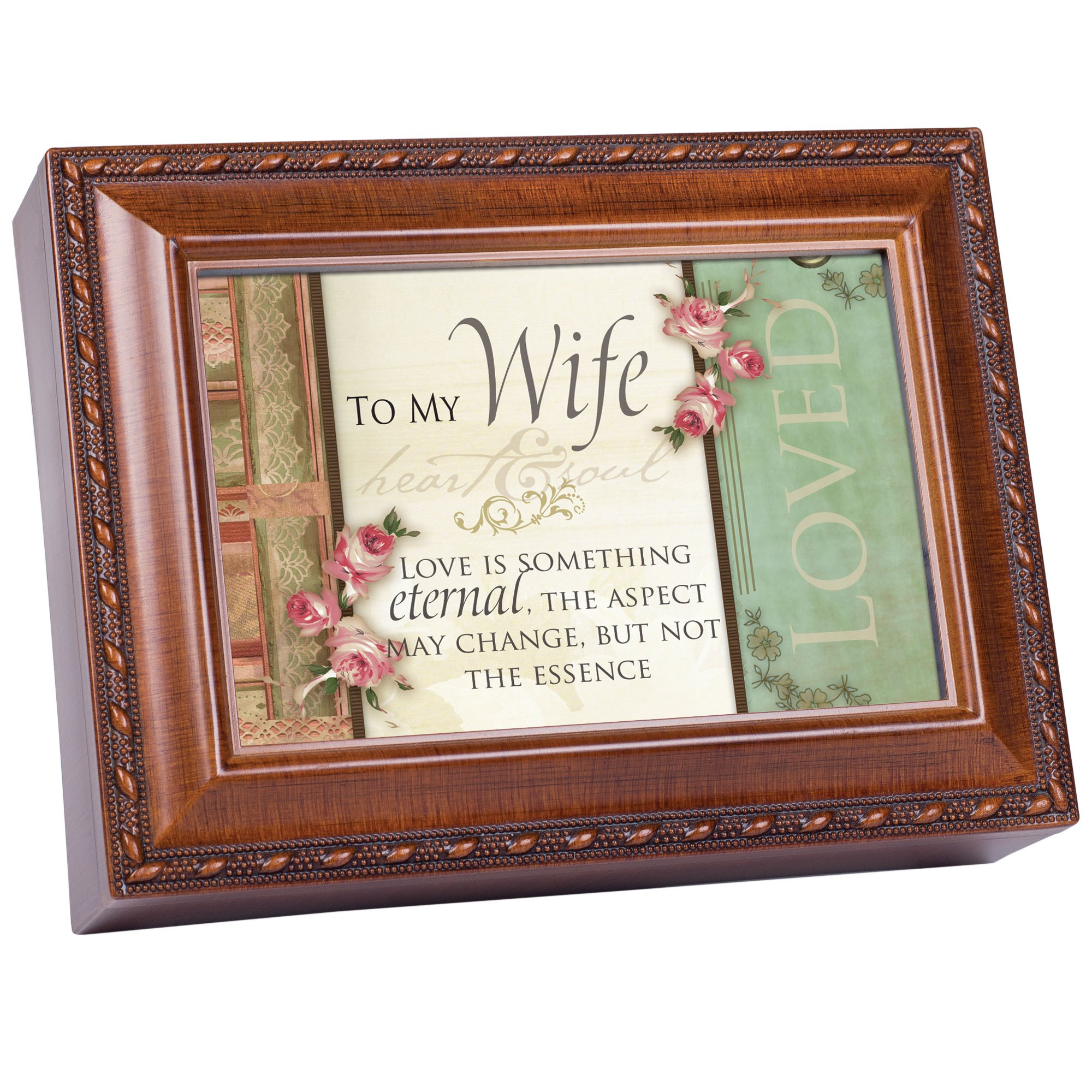 Cottage Garden To My Wife Woodgrain Traditional Music Box Plays Unchained Melody