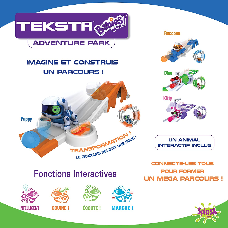Splash Toys 30622 - Playset Teksta Babies Robot Dinosaure interactif  motorisés et sonores avec parcours splashtoys f8c50613c02