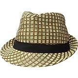 Simplicity Unisex Lightweight Packable Foldable Straw Fedora Hat Beach Sun Hat