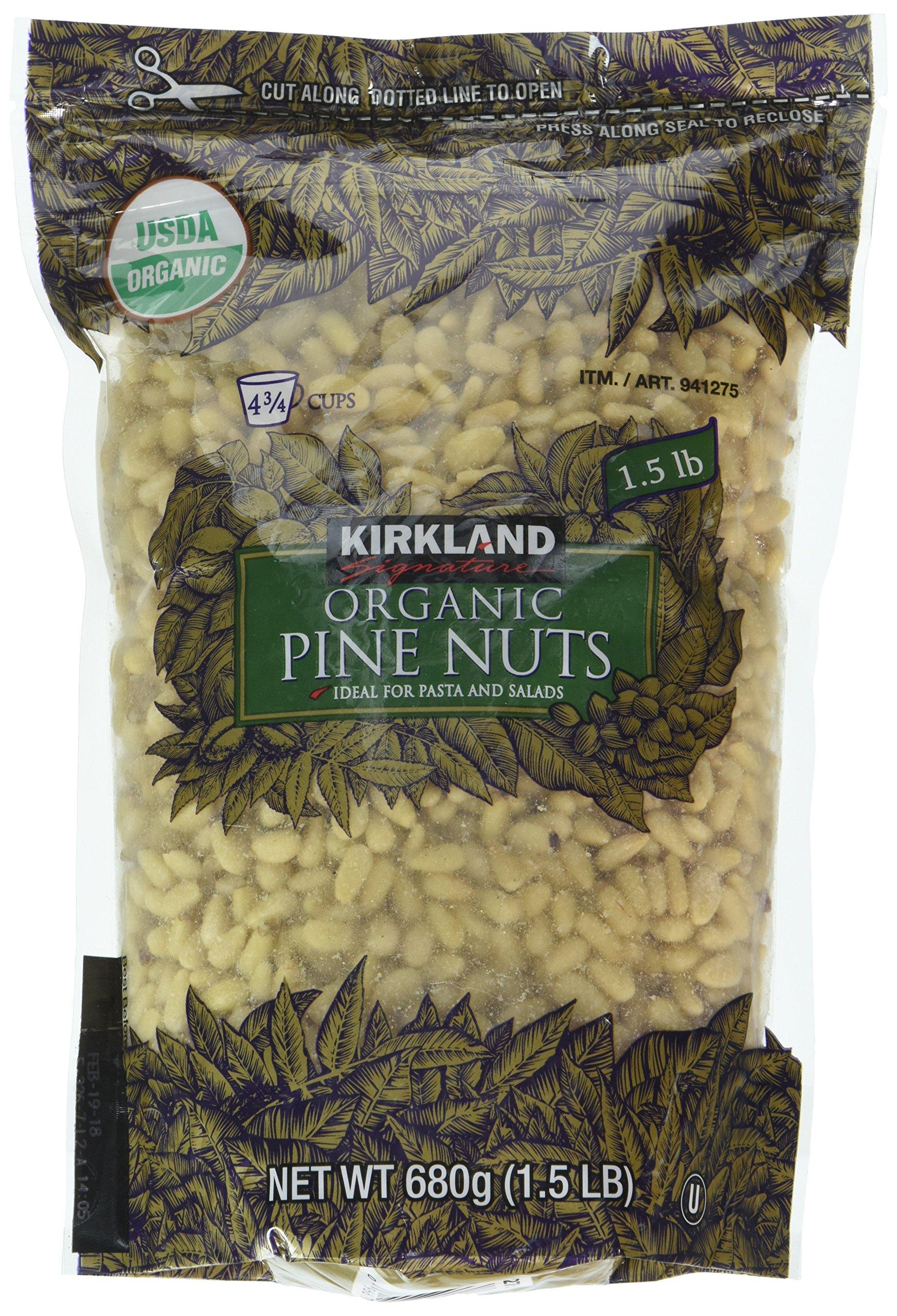 Kirkland Signature Organic Pine Nuts, 680 g by Kirkland Signature (Image #1)