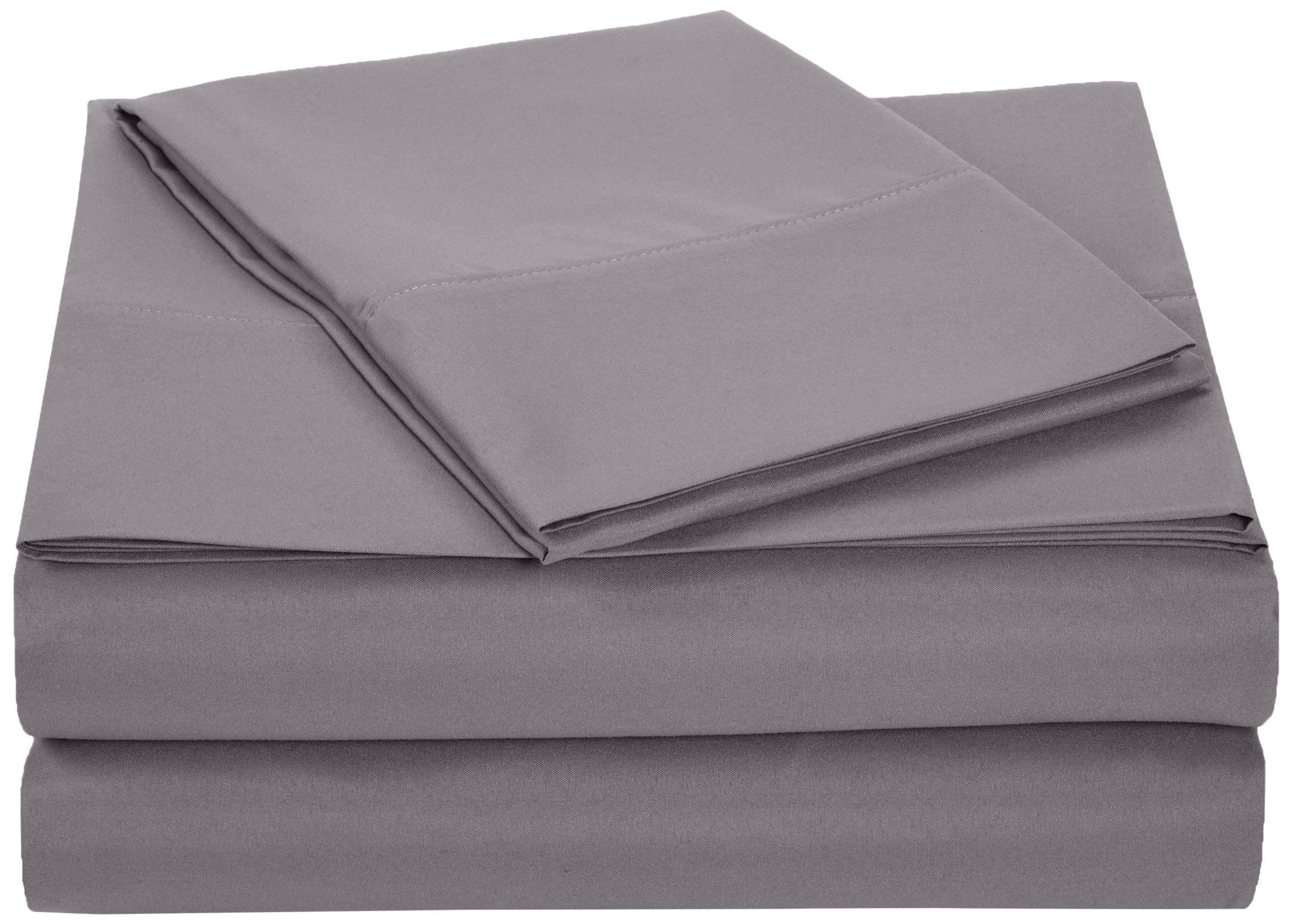 amazonbasics microfiber sheet set twin extra long dark grey twin xl ebay. Black Bedroom Furniture Sets. Home Design Ideas