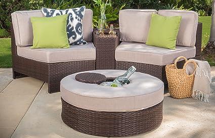 Amazon Com Riviera Positano Outdoor Patio Furniture Wicker 4 Piece