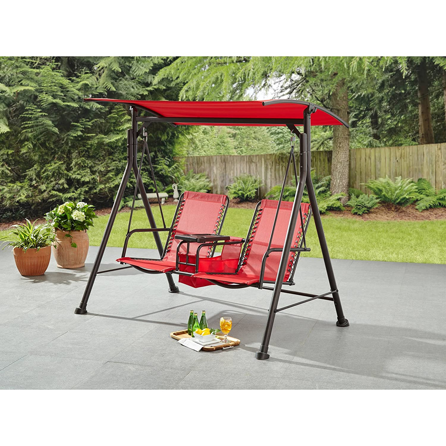 Ozark Trail* Big and Tall 2-Person Bungee Canopy Porch Swing in Camo