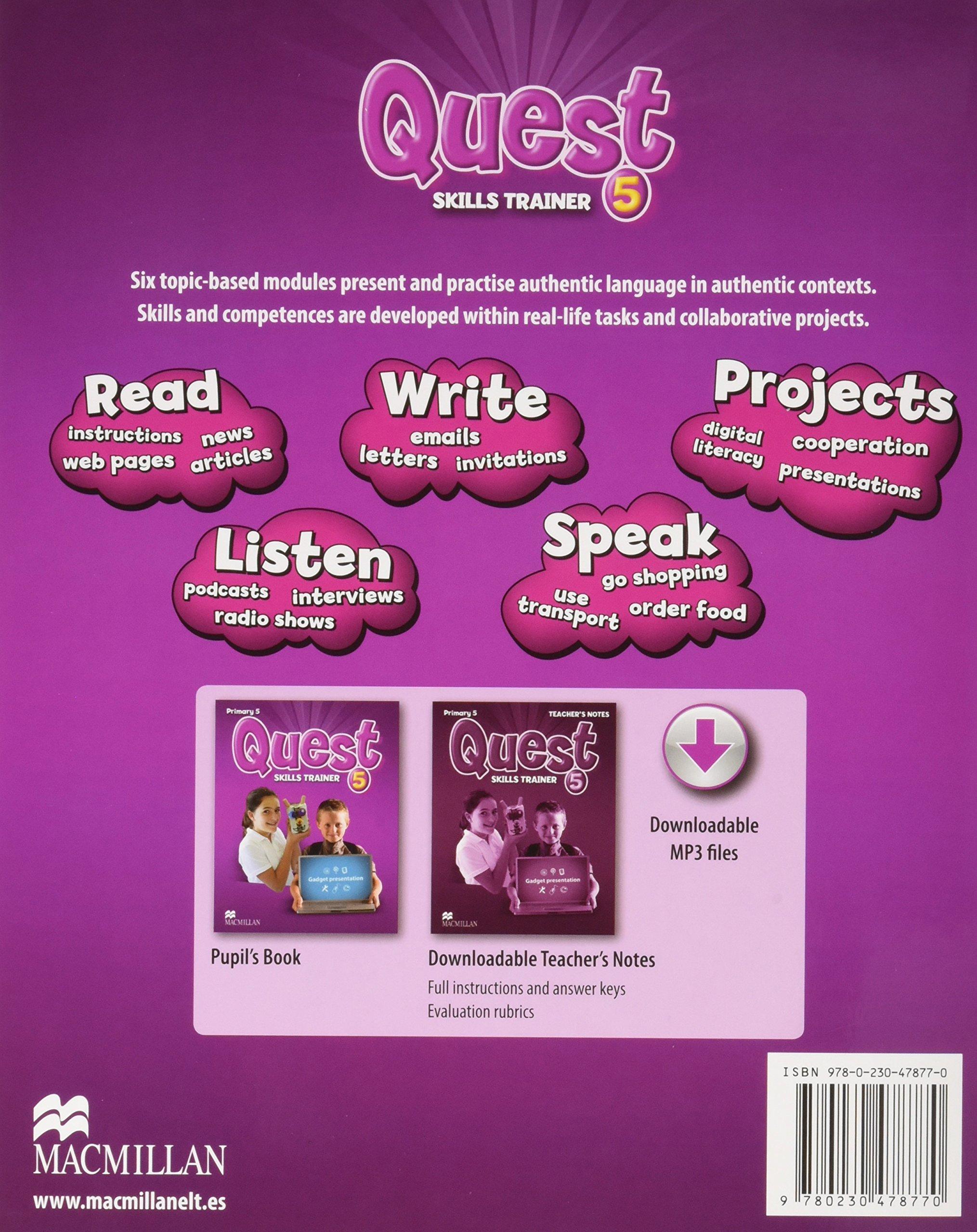 Quest Primary 5 Activity Book, Grammar Builder, CD-ROM - Interactive Activities Tiger - 9780230478718: Amazon.es: Corbett, J., O Farrell, R., Macmillan: Libros en idiomas extranjeros