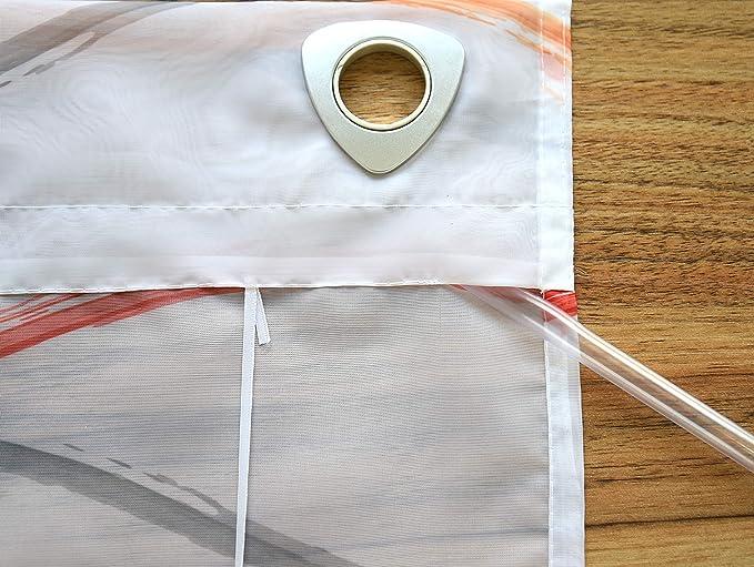 avec oeillet Environ 80 * 140 Semitransparent Campagne Chic Kutti Store Bateau Bellinda Blanc