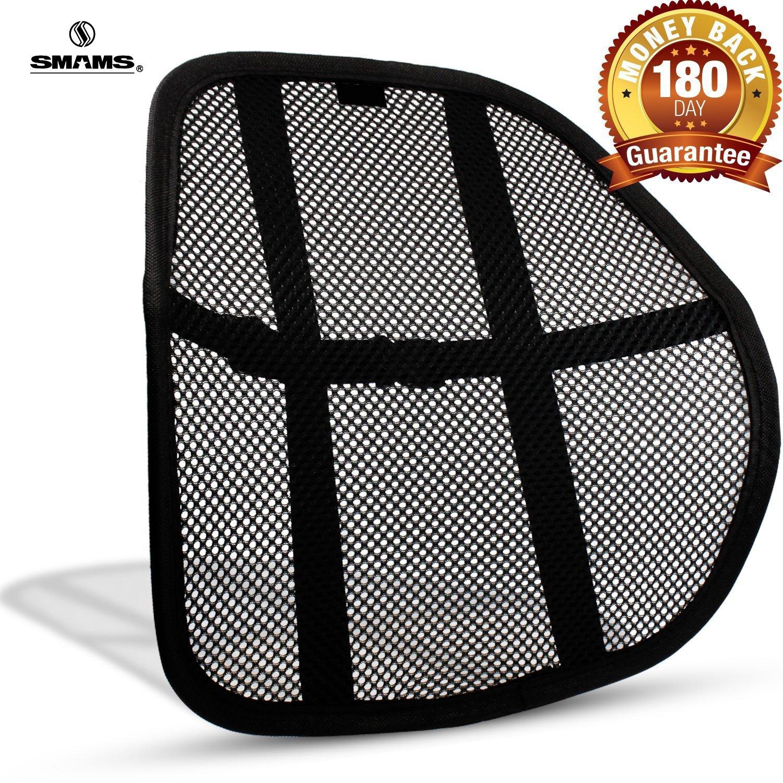 Smams - Cuscino per supporto lombare e correzione posturale, per sedie e sedili 2 x Grande