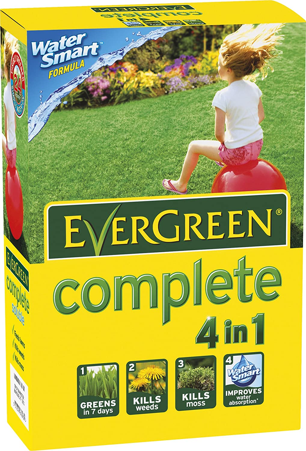 EverGreen 80sqm Complete Lawn Food/Weed/ Moss Killer Carton Evergreen Garden Care Ltd 017285