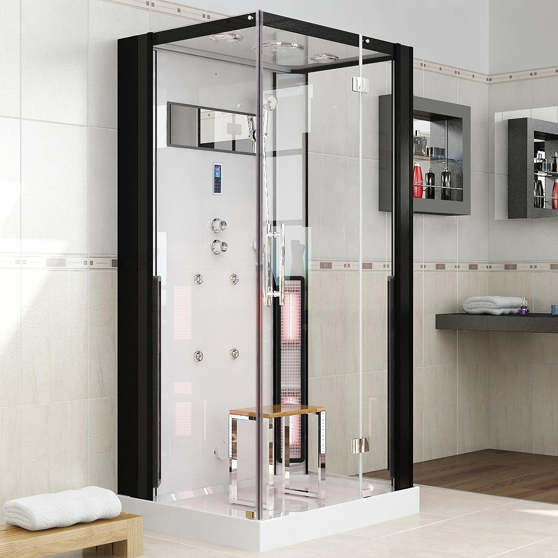 Ducha con vapor, cabina de infrarrojos y sauna: Amazon.es: Hogar