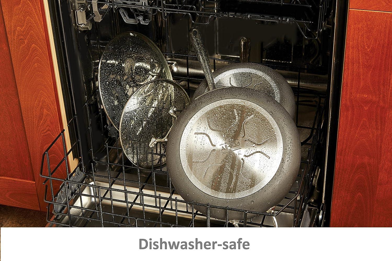 Black 2.5-Quart All-Clad E7852664 HA1 Hard Anodized Nonstick Dishwasher Safe PFOA Free Sauce Pan Cookware