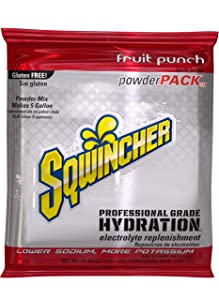 Sqwincher Powder Pack, Fruit Punch, 47.66 oz Packet (Pack of 16)
