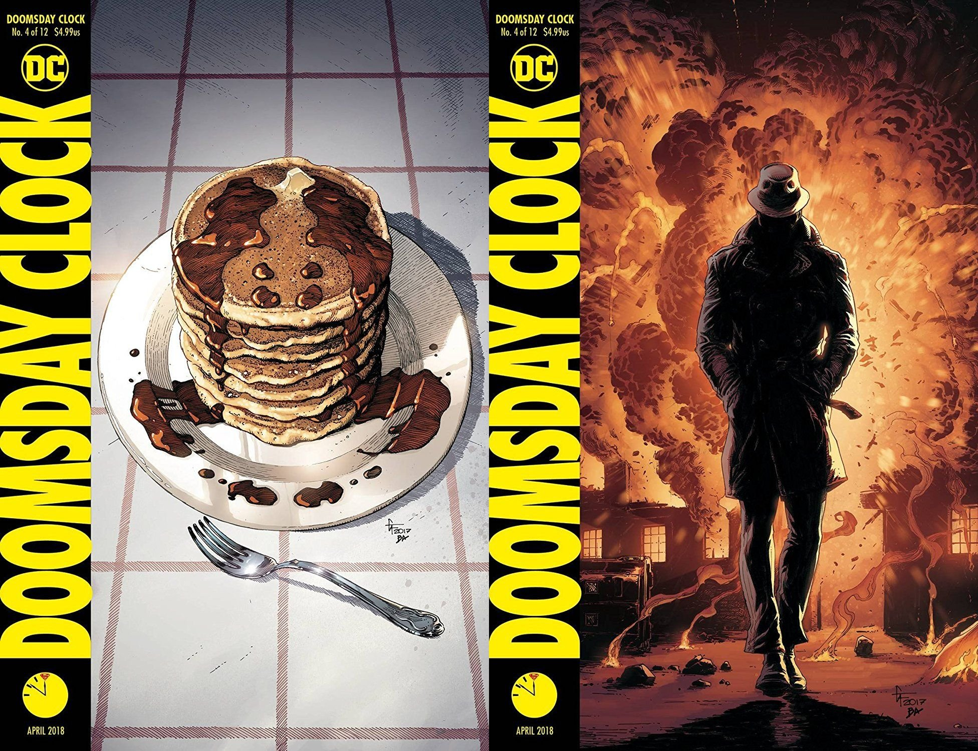 Doomsday Clock 4 Of 12 Cover Set Release Date 2 28 18 Amazon