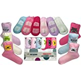 Baby Girl Crew Socks With Grips 6-24 Month Girls Sock Best 6 Pack Gift Set For 1 Year Old Non Slip Anti Skid From Tiny Captain (Pastel)