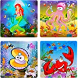 Puzzles for Kids Ages 3-5 20 Piece Animals Wooden Puzzles for Kids Puzzles for Toddlers Children Learning Educational…