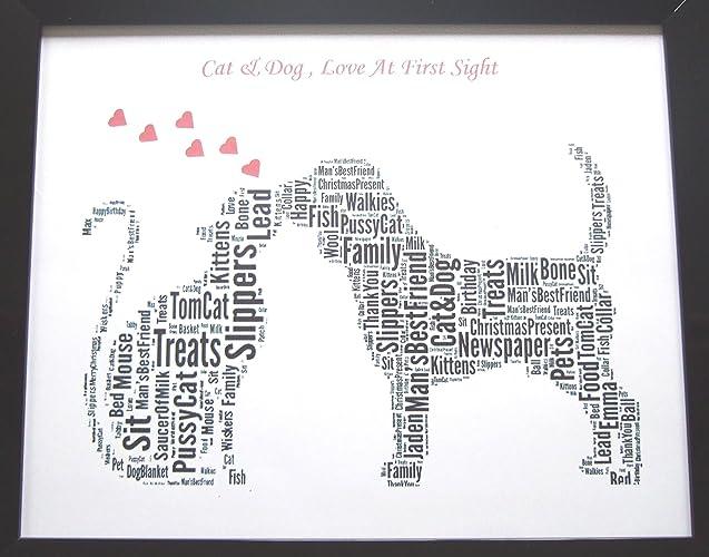 Perro y amor personalizados del perro en el arte de la primera vista ...