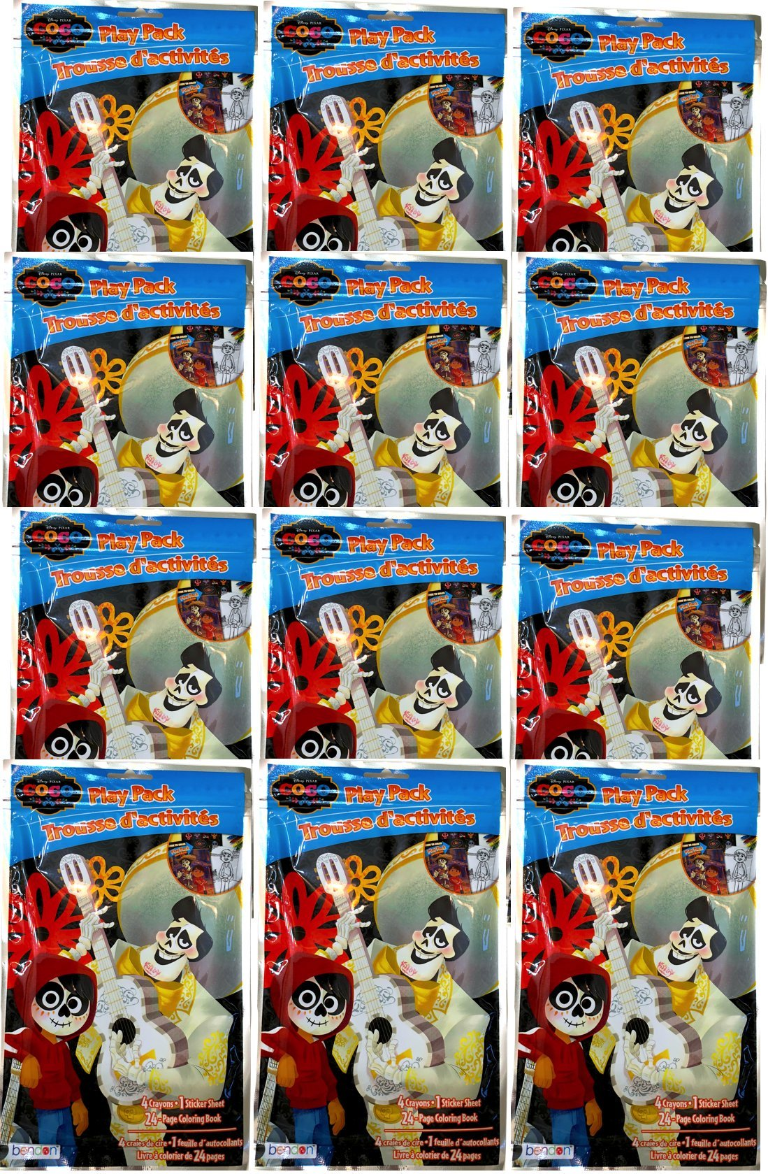 NEW Disney Pixar Coco The Movie Grab & Go Play Packs, Perfect For Party Favors & Gift Sets (12)
