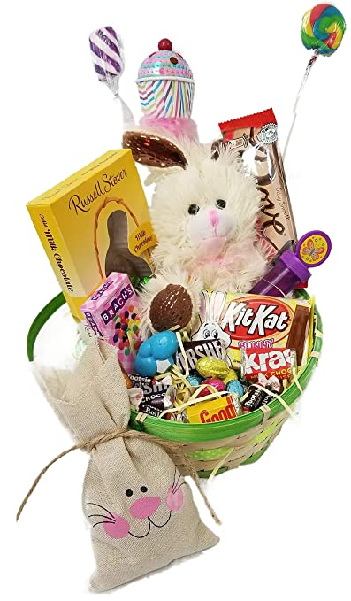 Lots of chocolate easter basket for kids and adults chocolate lots of chocolate easter basket for kids and adults chocolate scented stuffed bunny fun easter activity basket stuffers loaded with real solid negle Images