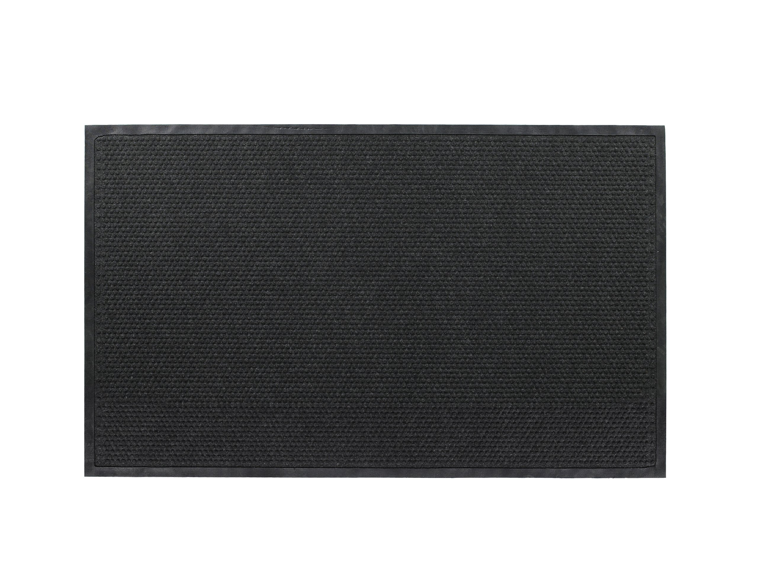 Andersen 883 Grease Hog Polypropylene Fabric Indoor/Wiper Scraper Floor Mat, Nitrile Rubber Backing, 10' Length x 3' Width, 1/4'' Thick, Coal Black