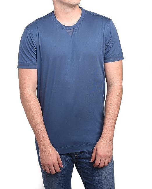 6d56c619 Z Zegna by Ermenegildo Zegna Men Double Collar T-Shirt Blue: Amazon ...
