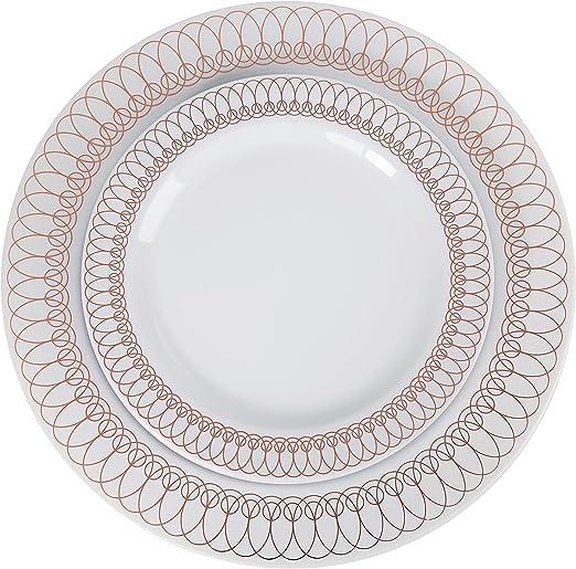 "9"" Simply Leaf Square Disposable Plates Party Dessert  Dinnerware Set Salad"