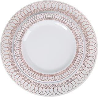 60-Pack of Luxury Disposable Plastic Plates for Upscale Parties- 30x10.25\   sc 1 st  Amazon.com & Amazon.com: Elite Selection Pack of 50 Dinner Disposable Plastic ...