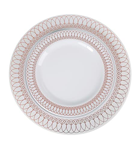 60-Pack of Luxury Disposable Plastic Plates for Upscale Parties- 30x10.25\u0026quot;  sc 1 st  Amazon.com : gold plastic dinner plates - pezcame.com