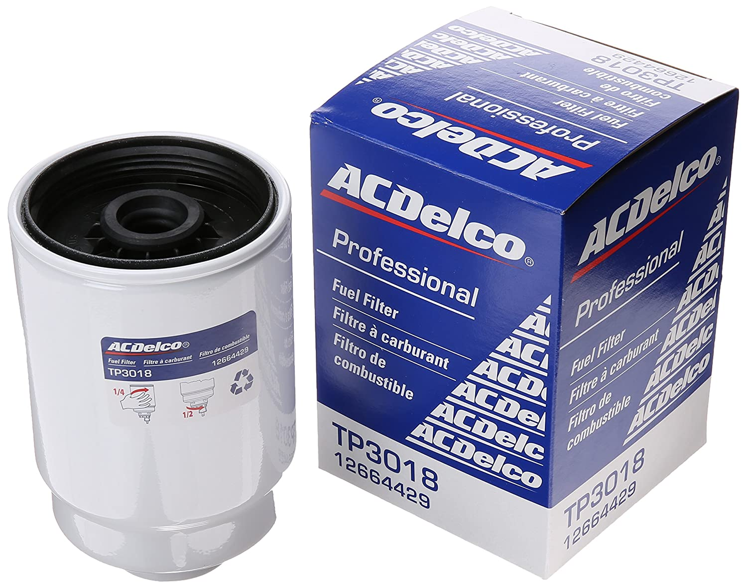 Acdelco Tp3018 Professional Fuel Filter With Seals 2007 Duramax Housing Automotive