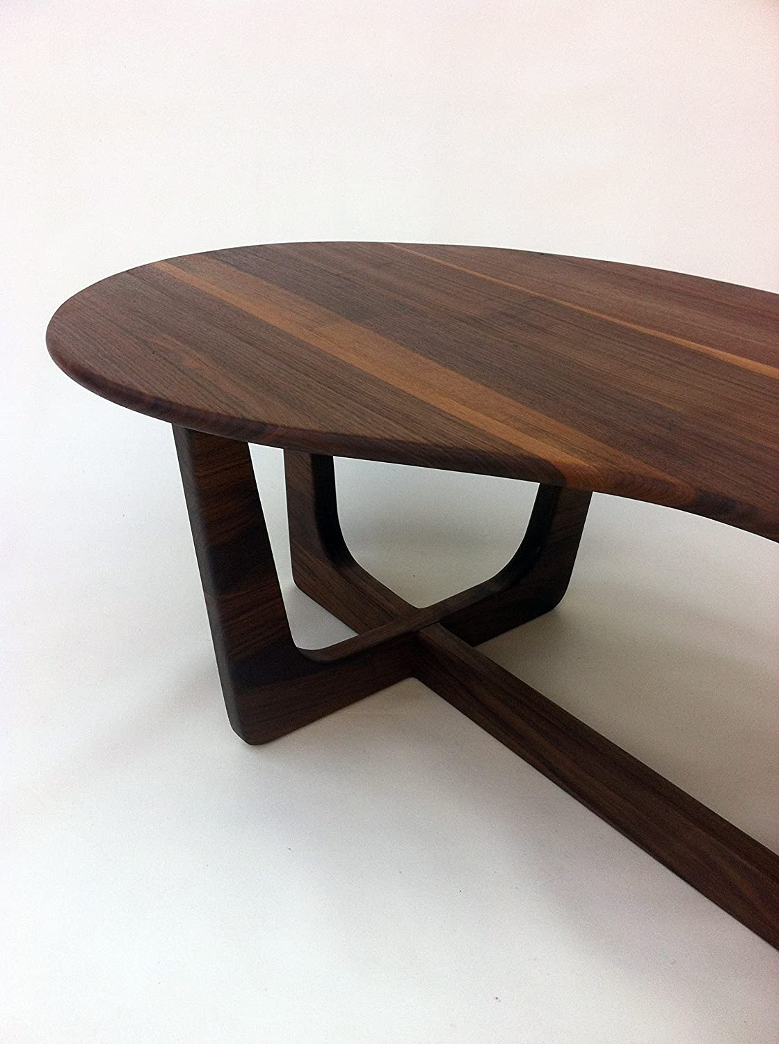 Biomorphic Coffee Table Amazoncom 60 Kidney Bean Cocktail Table Mid Century Modern
