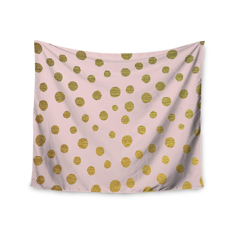 51 X 60 Kess InHouse Nika Martinez Golden Dots /& Pink Blush Wall Tapestry