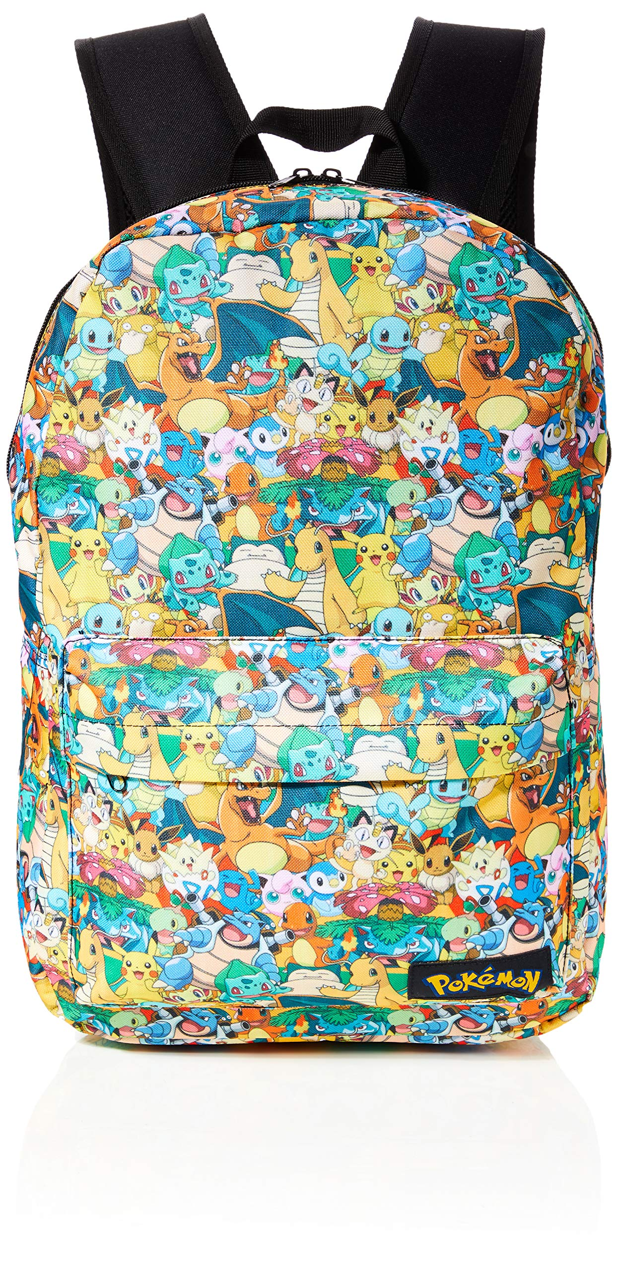 BIO-BP060805POK Pokemon All-over Characters Print Backpack Casual Daypack, Multicolour, 45 cm, 15 Litres