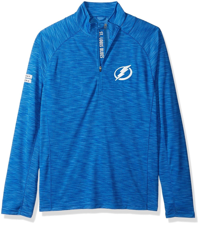 Levelwear LEY9R NHL(ナショナルホッケーリーグ)動きやすいインシグニアストロングスタイル クオータージップ ミットレイヤー B074PK32CK Medium|ロイヤルブルー|Tampa Bay Lightning ロイヤルブルー Medium