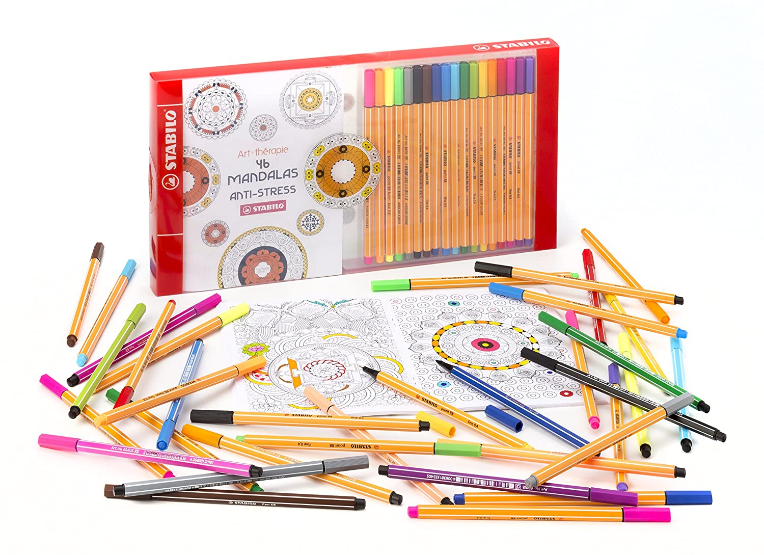 Coloriage Anti Stress Stabilo.Coffret Coloriage Anti Stress Stabilo