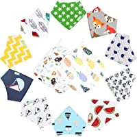0e2761eb2a1d2 12-Pack Unisex Baby Bandana Drool Bibs with Wash Cloth Towel for Babies ,Toddlers