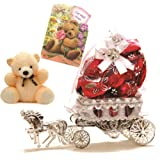 Skylofts Beautiful Horse Chocolate Gift with a cute teddy & get well soon card