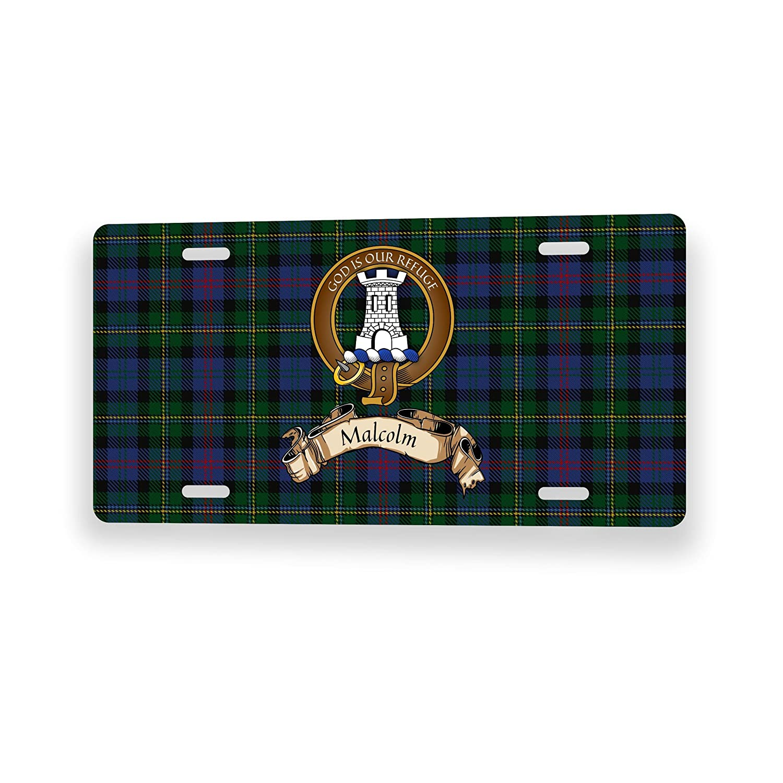 Malcolm Scottish Clan Tartan Novelty Auto Plate