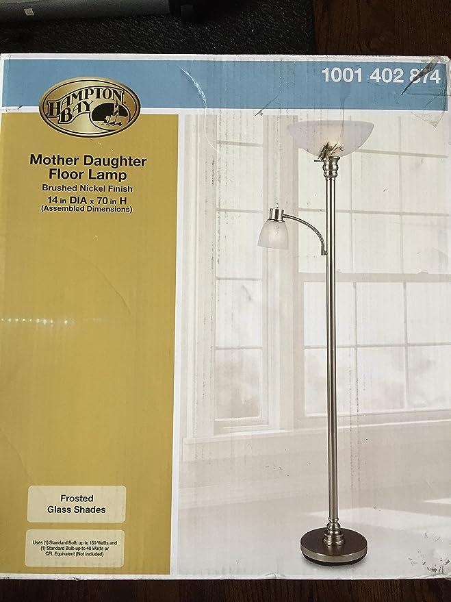 Hampton Bay Mother Daughter Floor Lamp brushed nickel finish