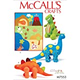 McCall 's Patterns McCall pattern 7553 OS, edredón y juguetes de peluche dinosaurio, Multi Color