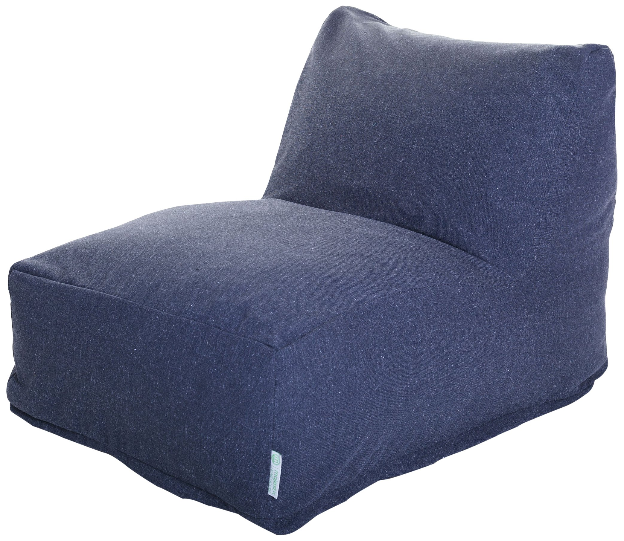 Majestic Home Goods Wales Bean Bag Chair Lounger, Navy
