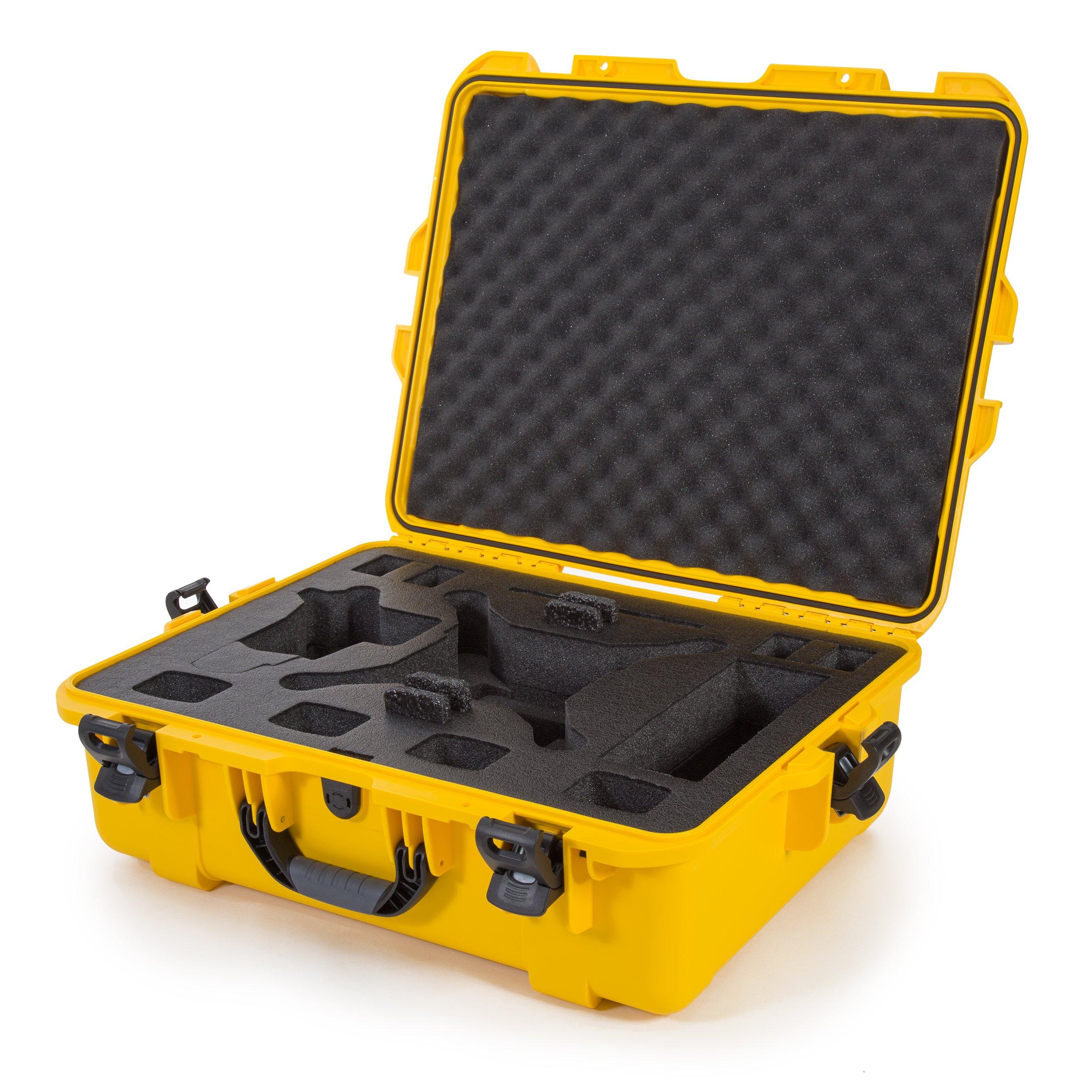 Nanuk DJI Drone Waterproof Hard Case with Custom Foam Insert for DJI Phantom 4/ Phantom 4 Pro (Pro+) / Advanced (Advanced+) & Phantom 3-945-DJI44 Yellow by Nanuk