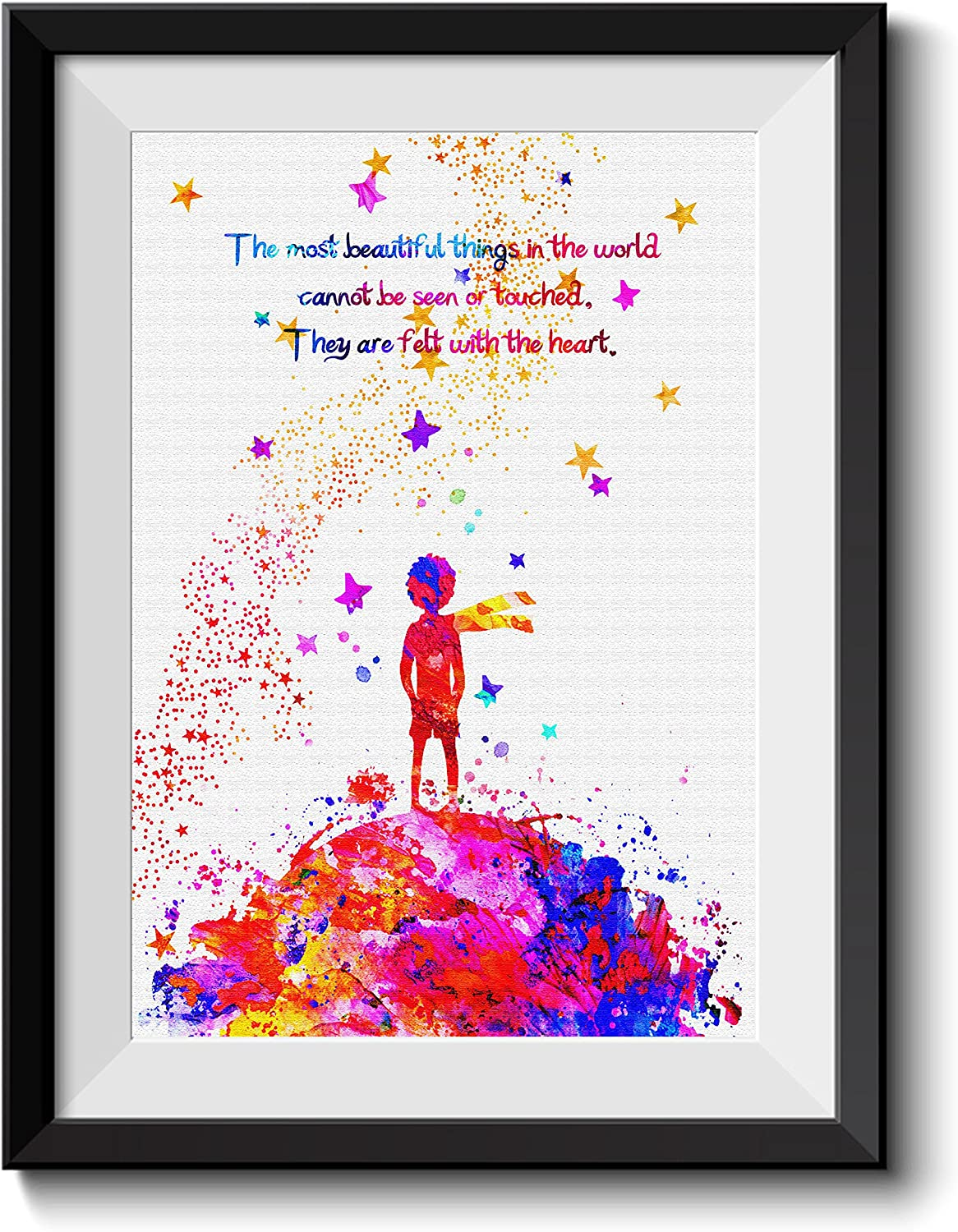 Amazon Com Uhomate The Little Prince Fox Le Petit Prince Little Prince Home Canvas Prints Wall Art Inspirational Quotes Wall Decor Living Room Bedroom Bathroom Artwork C045 8x10 Posters Prints