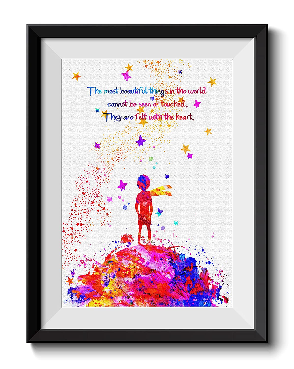 Uhomate The Little Prince Fox Le Petit Prince Little Prince Home Canvas Prints Wall Art Anniversary Gifts Baby Gift Inspirational Quotes Wall Decor Living Room Bedroom Bathroom Art C045 8X10 inch